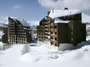 Typical accommodation blocks in Alpe d'Huez